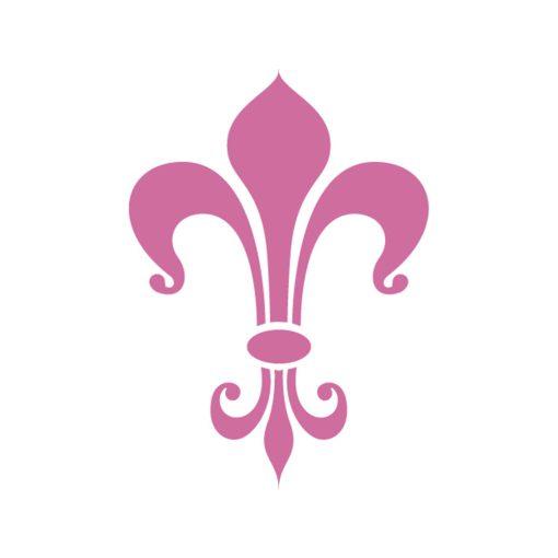 Pochoir-fleur-de-lys-44 - ambiance 1 - ID-Paris
