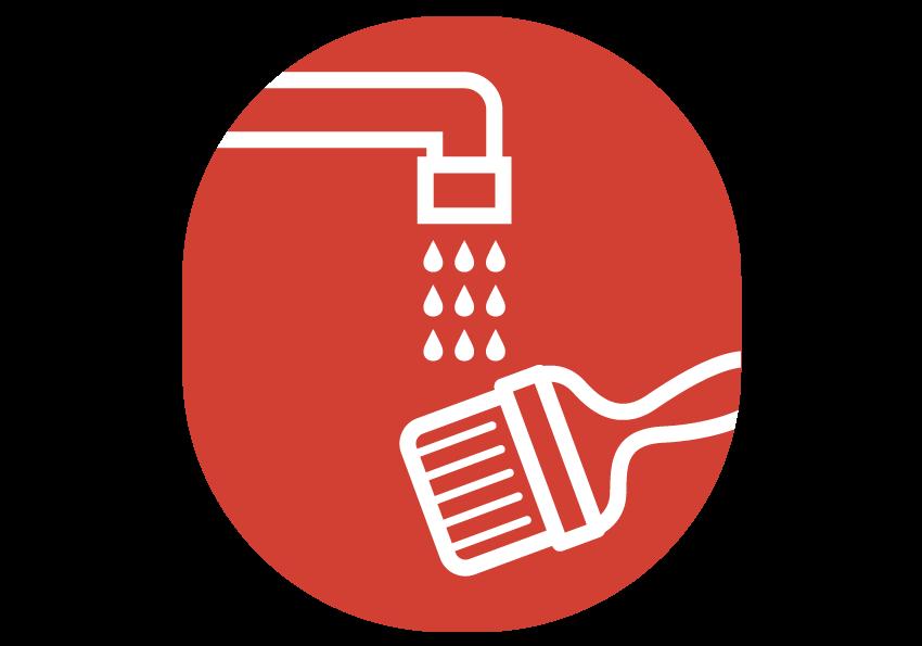 Nettoyage à l'eau