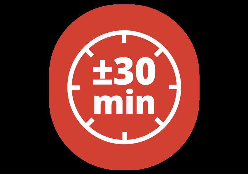 séchage 30 min